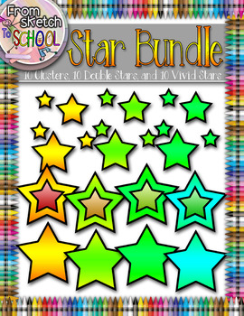 30 Bright Vivid Star Bundle {From Sketch to School}