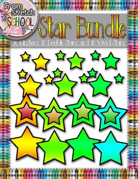 30 Bright Vivid Star Bundle {From Sketch to School}