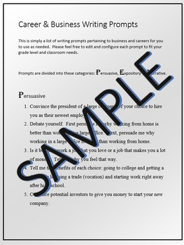 30 Career & Business Writing Prompts 7-12
