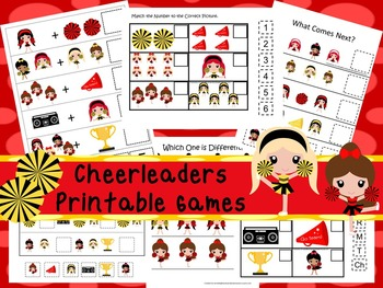 30 Cheerleader Games Download. Games and Activities in PDF files.