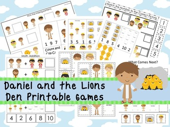 30 Daniel and the Lions Den themed Printable Games and Act