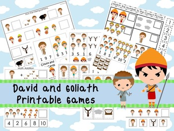 30 David and Goliath themed Printable Games and Activities