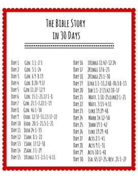 30 Day Bible Reading