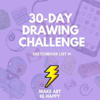 30-Day Drawing Challenge (Sketchbook List #1)