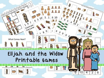 30 Elijah and the Widow themed Printable Games and Activit