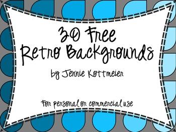 30 Free Retro Backgrounds