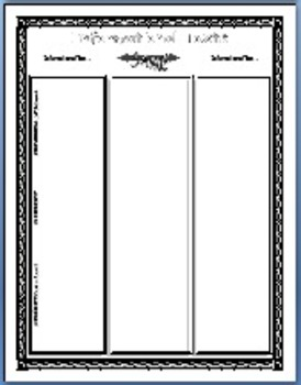 30 Graphic Organizers: Story Elements, Diction, Tone, Mood