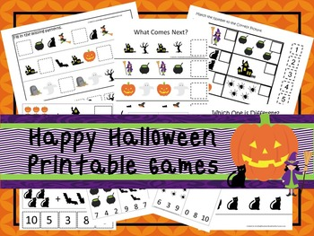 30 Halloween Games Download. Games and Activities in PDF files.