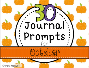 30 Journal Prompts for October {Daily Writing}