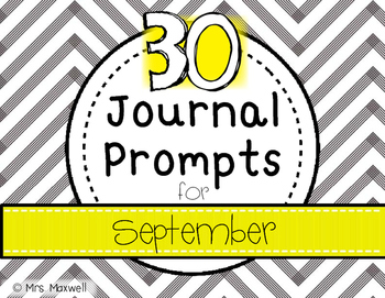 30 Journal Prompts for September {Daily Writing}