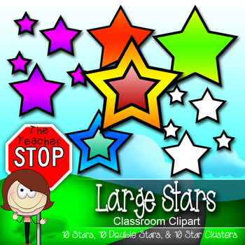 30 Large Printable Stars (Doubles, Clusters) {The Teacher Stop}
