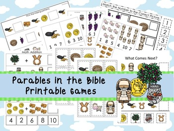 30 Parables in the Bible themed Printable Games and Activi