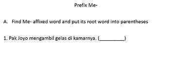 30 Problems Bahasa Indonesia Prefix Me-