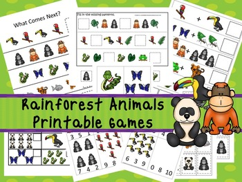 30 Rainforest Animals Games Download. Games and Activities