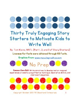 30 Story Starters to Motivate Kids to Write - Compilation