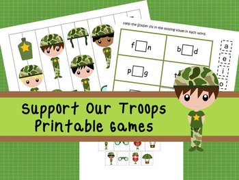 30 Support Our Troops Games Download. Games and Activities