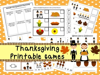 30 Thanksgiving Games Download. Games and Activities in PD