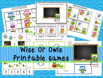 30 Wise ol' Owls Games Download. Games and Activities in P