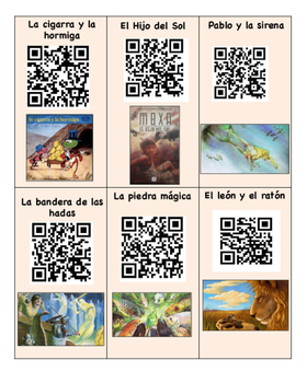 30 codigos de QR leyendas y fabulas/legends and fables Spa