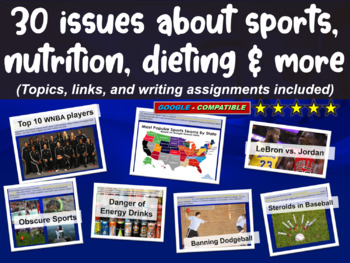 30 issues on sports, nutrition, dieting & more (links, wri