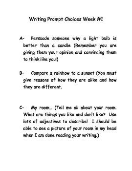30 weeks of writing prompts