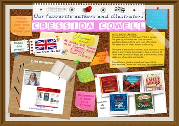 Poster - Cressida Cowell Author Of Train Your Dragon Bks P