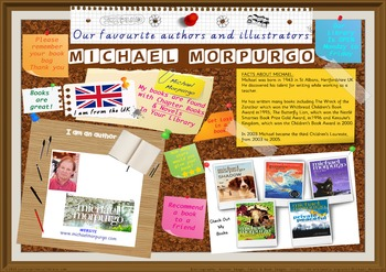 Poster - Michael Morpurgo Author Of Chapter Bks & Novels P