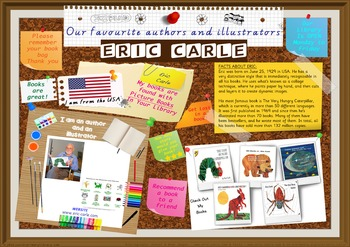 300 DPI Poster - Eric Carle Author/Illustrator Very Hungry