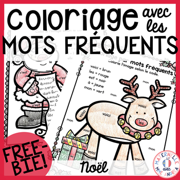 300 FOLLOWERS FREEBIE - Free FRENCH Christmas colour by si