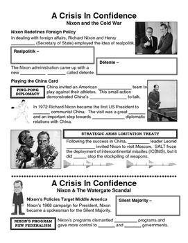 31 - A Crisis in Confidence - Scaffold/Guided Notes (Blank