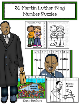 31 Martin Luther King Number Puzzles