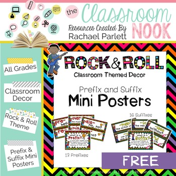 Rock and Roll: Prefix and Suffix Mini Posters