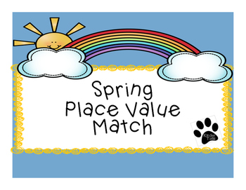 Spring Place Value Match