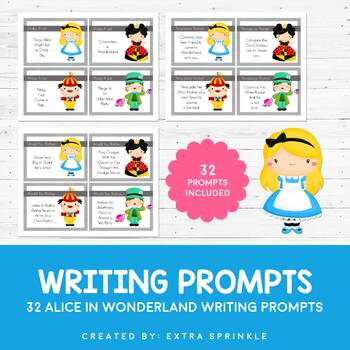 32 Disney Inspired Alice in Wonderland Writing Prompts and