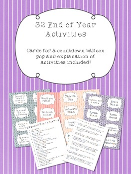 32 End of Year Activities