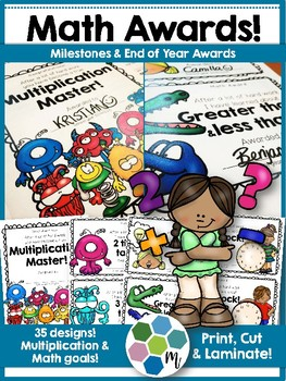 35 End of Year Math Awards for Early Elementary Students