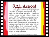 3,2,1 Action! Game- tion suffix practice