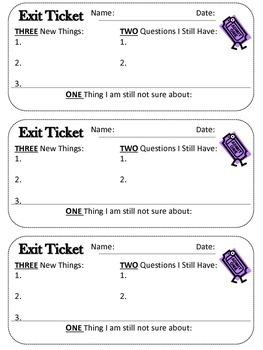 3..2..1..Exit Ticket
