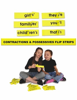 Contractions & Possessives Flip Strips