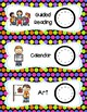 33 Daily Classroom Schedule Cards  - Colorful Polka Dot Th
