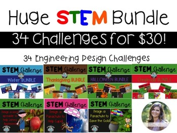 34 STEM Engineering Challenge Bundle for $30