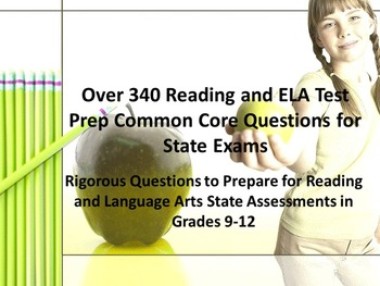 340 High School Reading and ELA Test Prep Common Core Ques