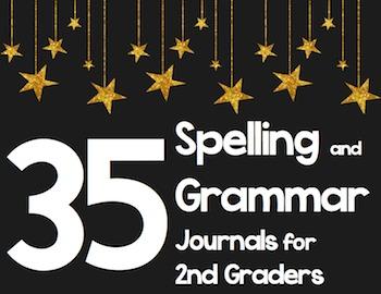 35 2nd Grade Spelling/Grammar Journals - Common Core Align