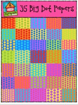 35 Big Dot Digital Papers {P4 Clips Trioriginals Digital C