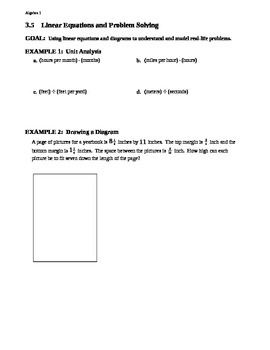 3.5 Linear Equations and Problem Solving