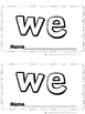 36 Kindergarten Sight Word Emergent Readers  (Focusing on