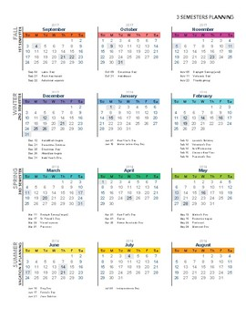 Year at a Glance - 36 Week Lesson Planning (3 Units of 12