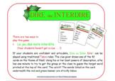42 cartes au thème de Noël pour un jeu comme Taboo® (French)