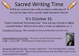 366 Sacred Writing Time Slides -- For Writer's Notebooks &