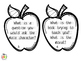 38 Print and Go Comprehension Apple Questioning Cards - Bl